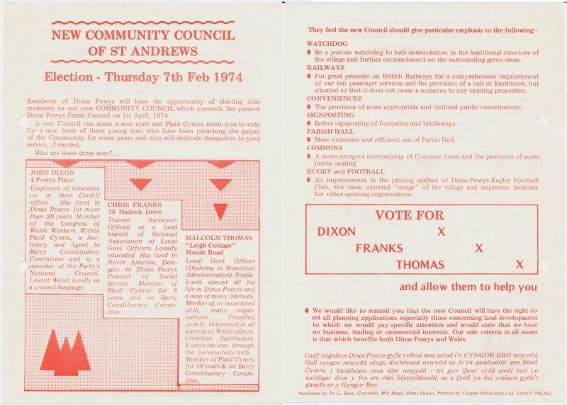 1974 Dinas Powys Community