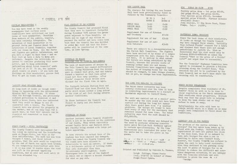 1976x Castell ar Mor Dinas Powys