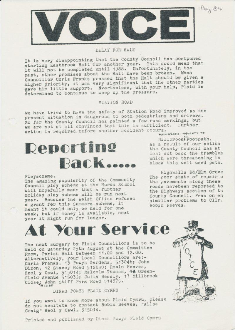 1984m08 Voice Dinas Powys