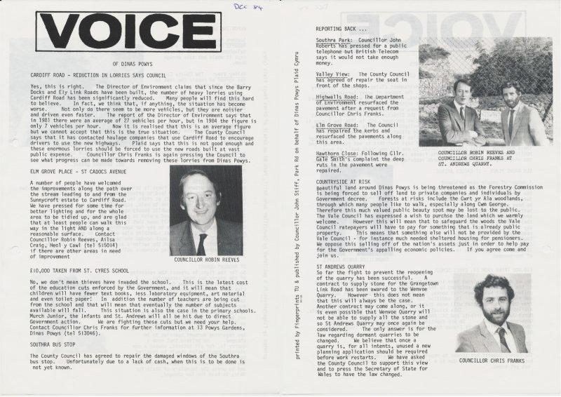 1984m12 Voice Dinas Powys