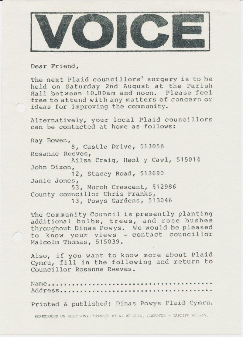 1986x Dinas Powys Surgery