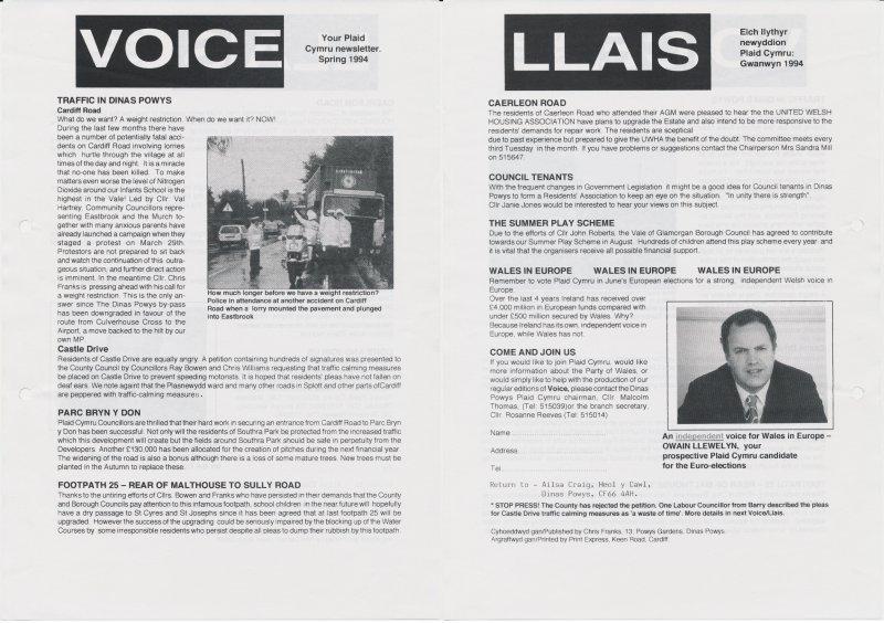 1994 Voice Dinas Powys