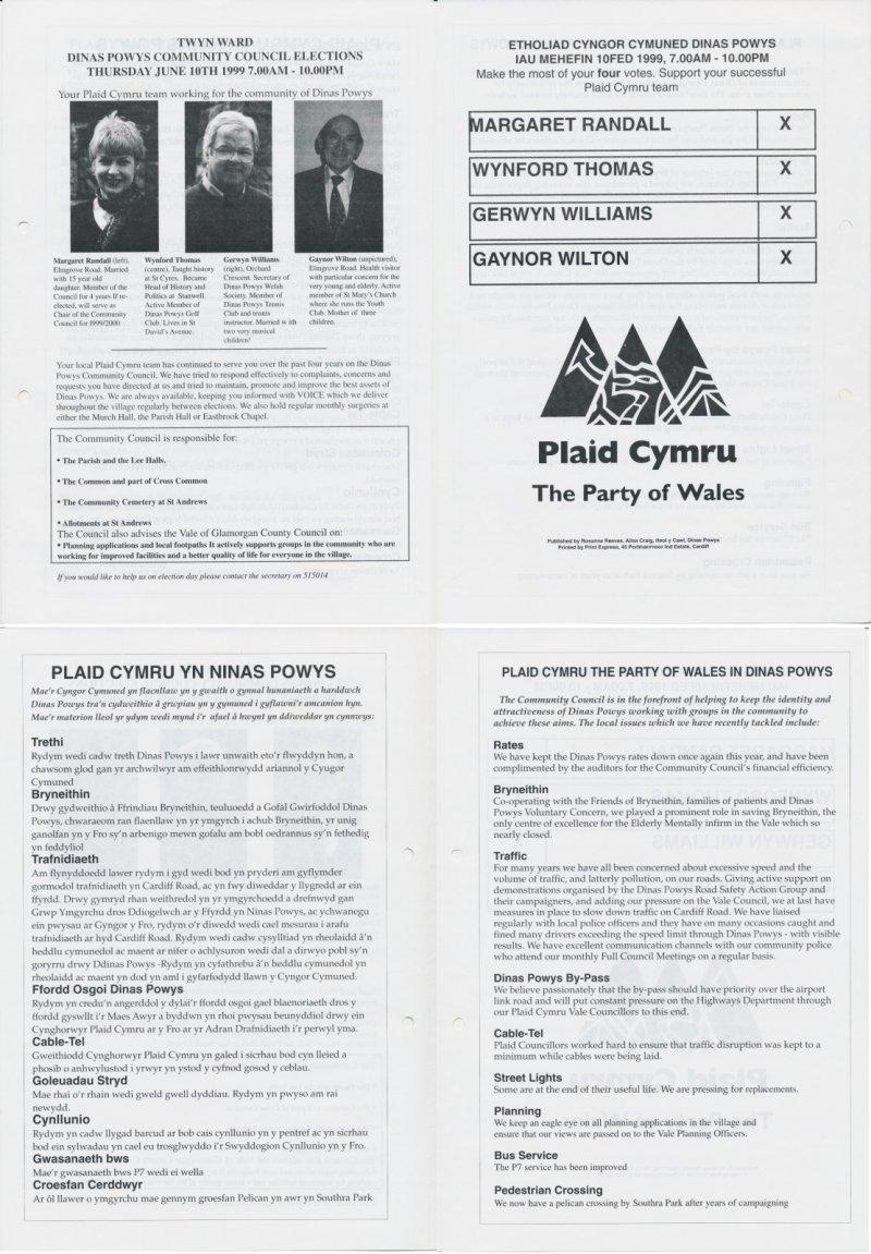 1999 Dinas Powys Cyngor Cymuned
