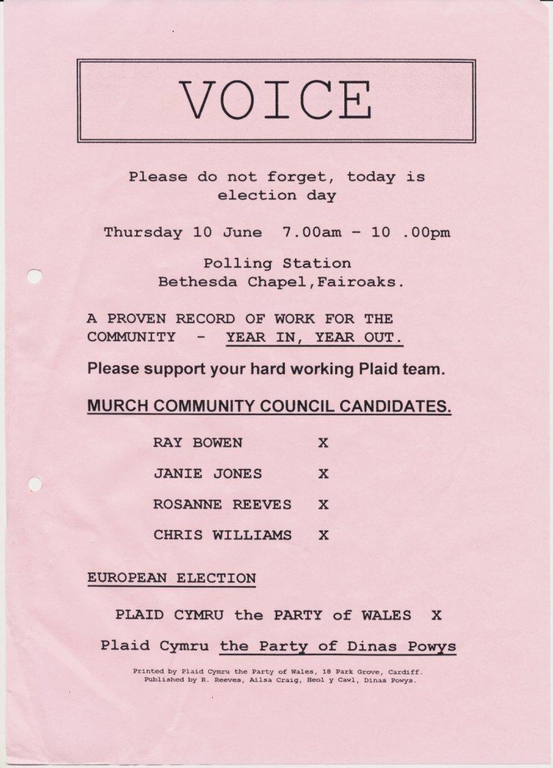 1999 Voice Dinas Powys Murch