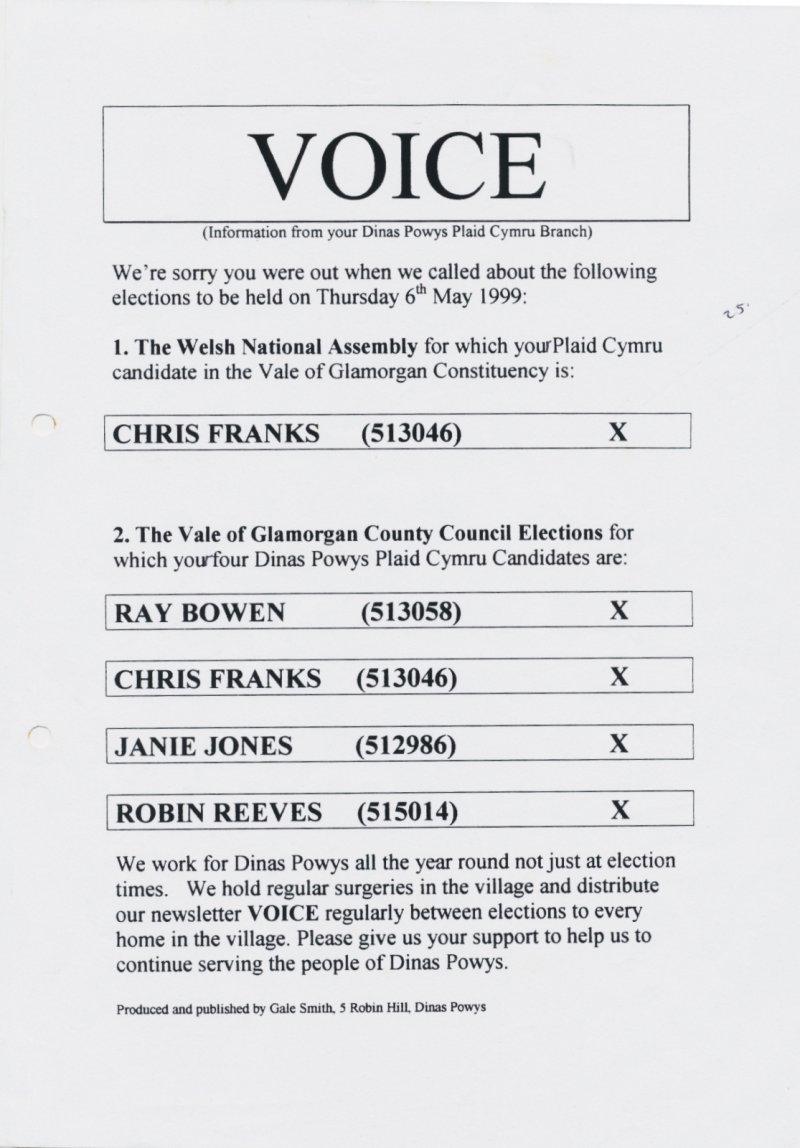 1999 Voice VOG Dinas Powys