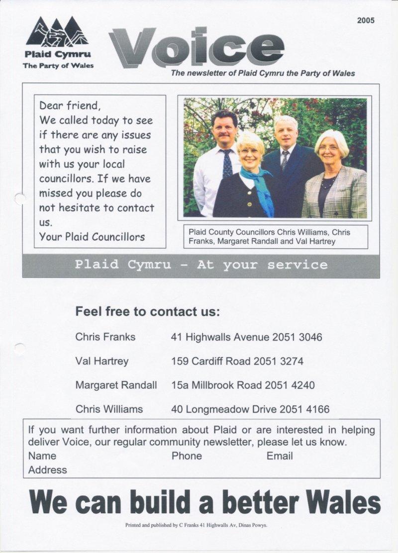 2005 Voice Dinas Powys Contact