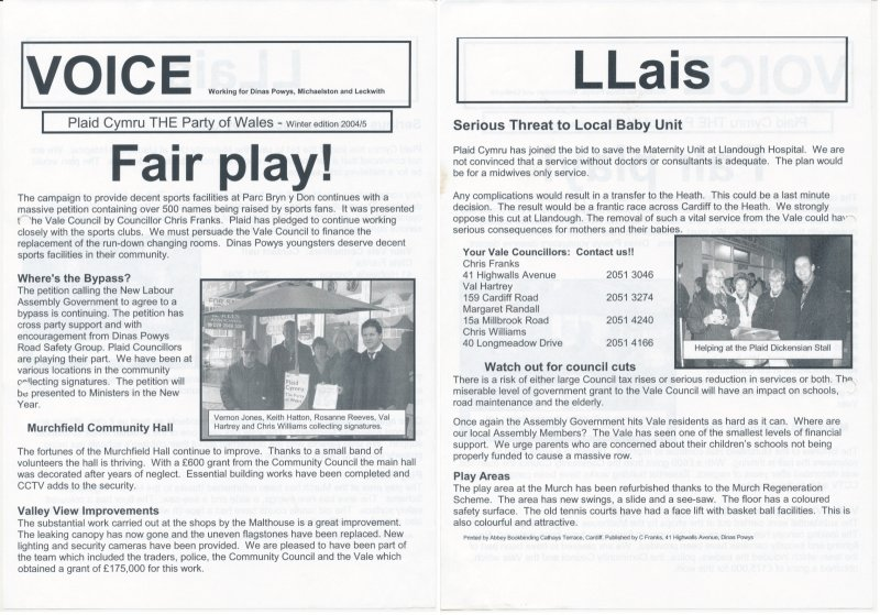 2005 Voice Dinas Powys Fair Play