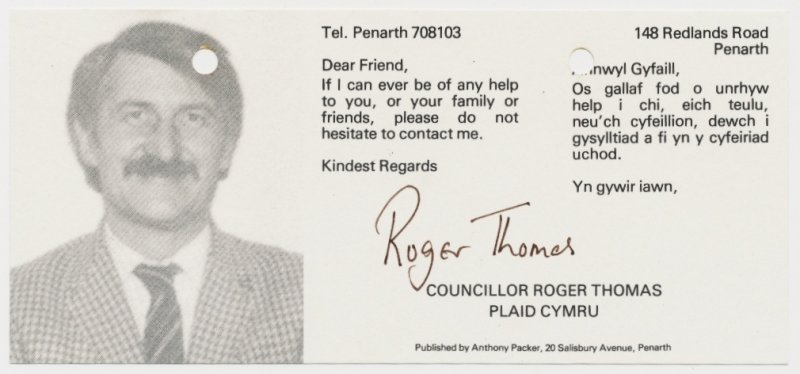 1982 Roger Thomas Penarth