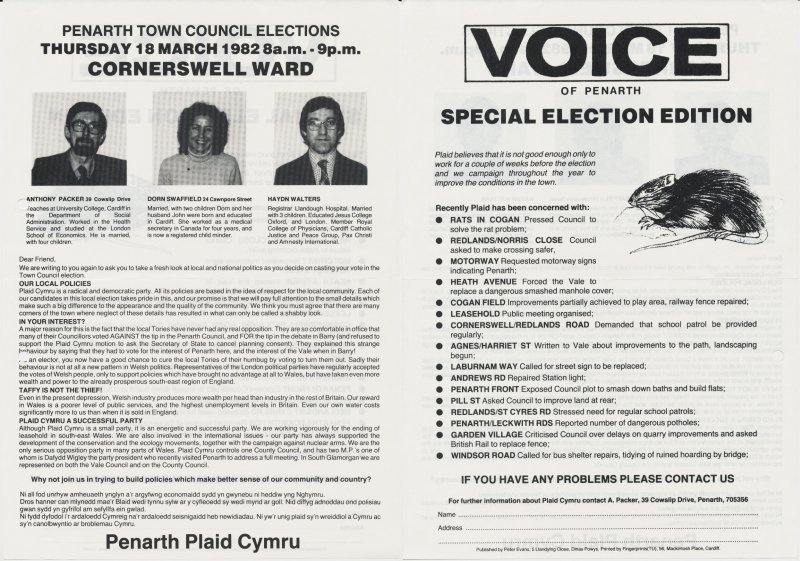 1982 Voice Penarth Cornerswell
