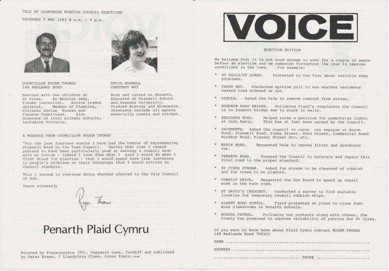 1983 VOG Penarth Stanwell
