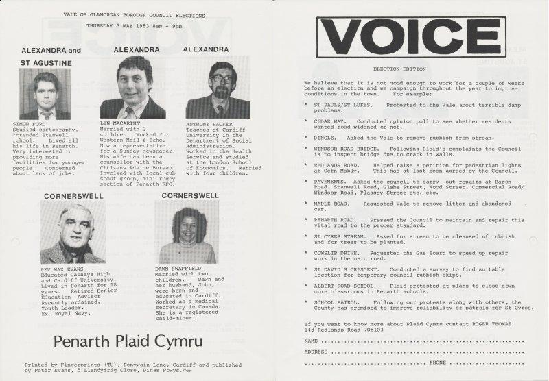 1983 VOG Penarth