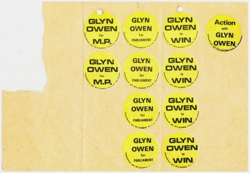 1970x Cynon Glyn Owen Sticer