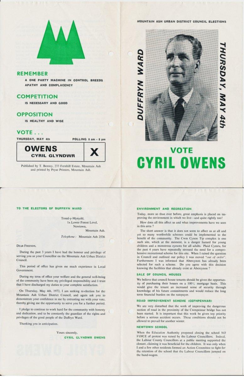 1973 Cynon Cyril Owens