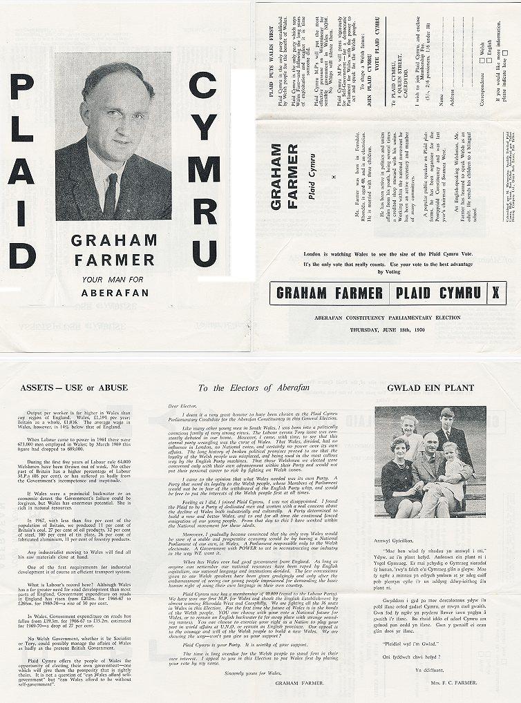 1970 Taflen Graham Farmer