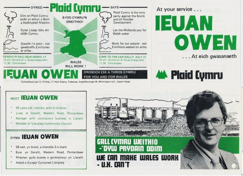 1982 Abertawe Ieuan Owen Gweithio