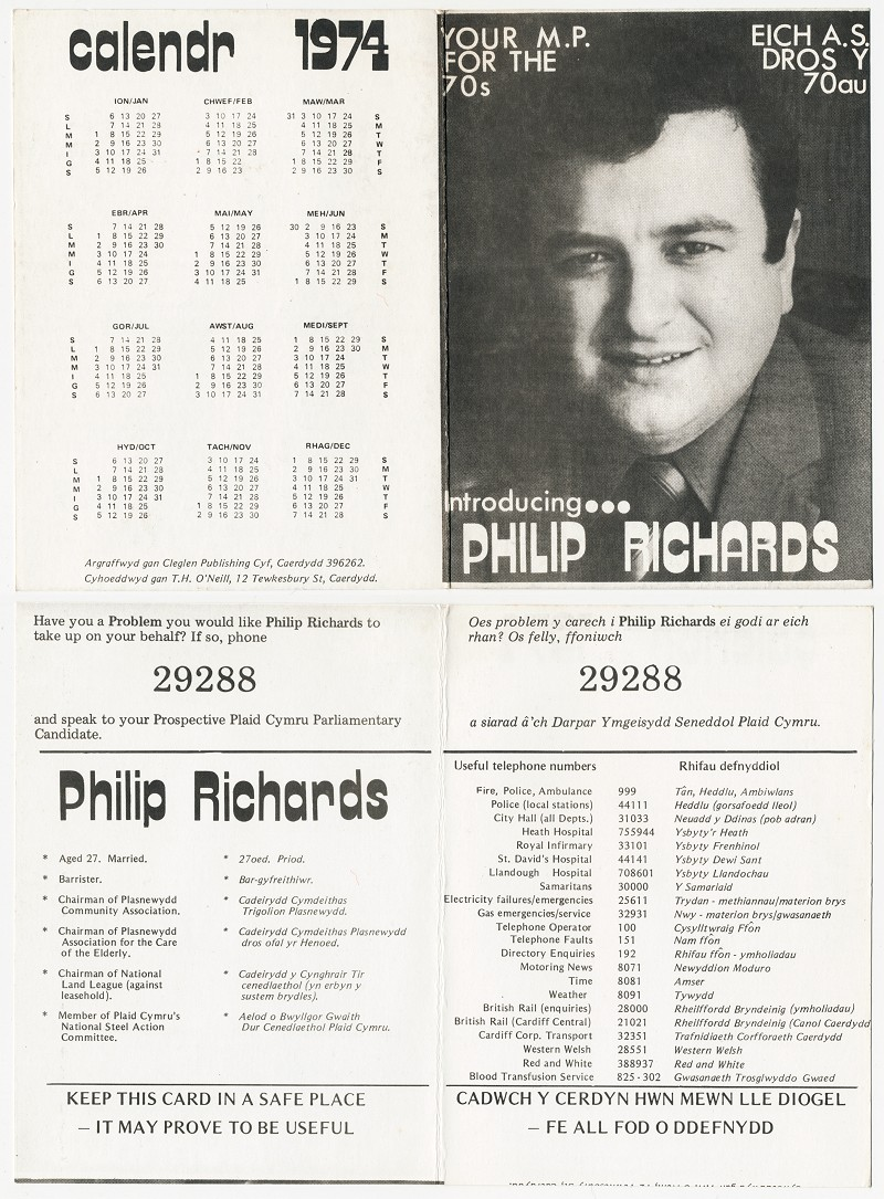 1974 Calendr Phil Richards