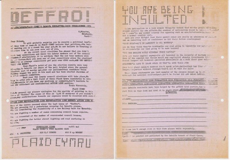 1976 Caerdydd Deffro