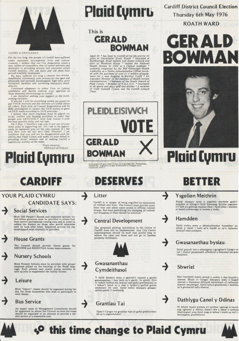 1976 Cardiff District Gerald Bowman