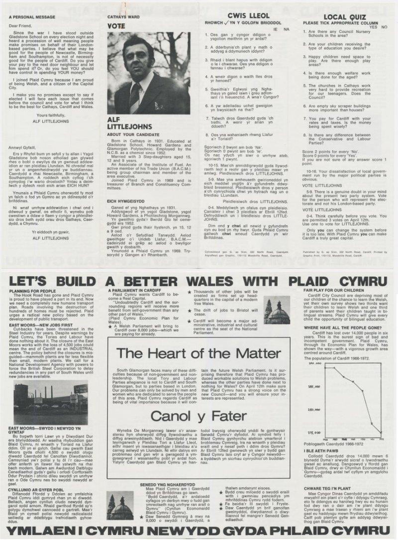 1976x Alf Littlejohns Caerdydd