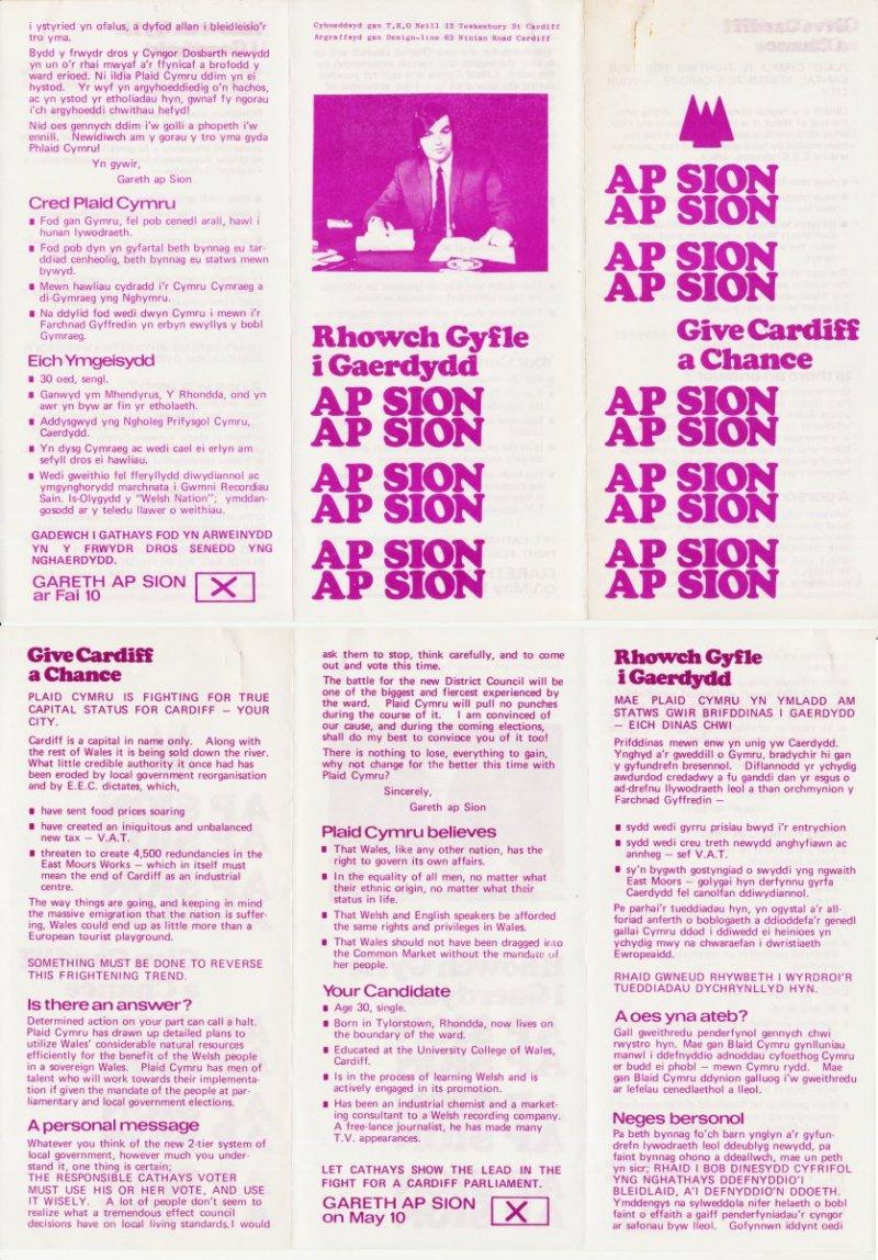 1977 Gareth ap Sion
