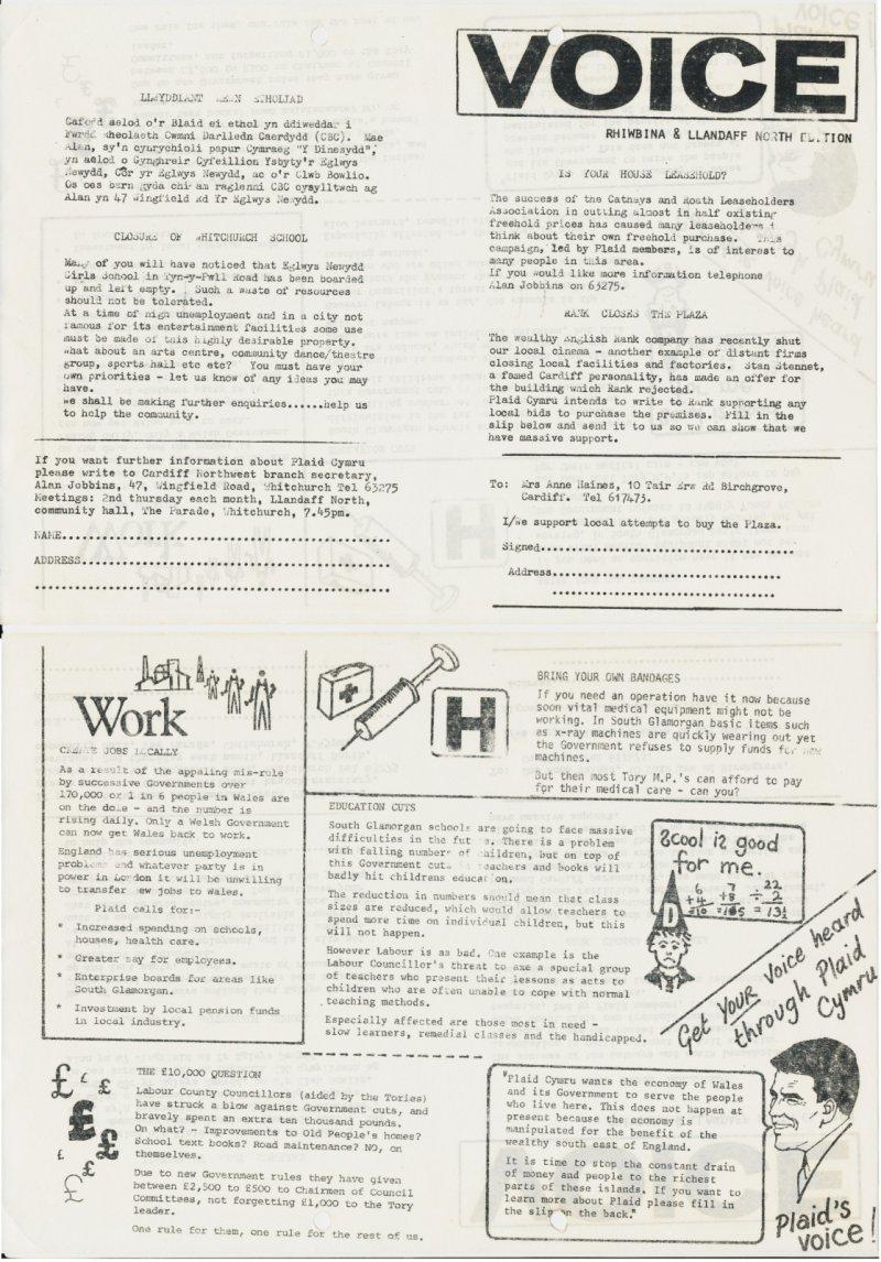 1981 Voice Rhiwbina