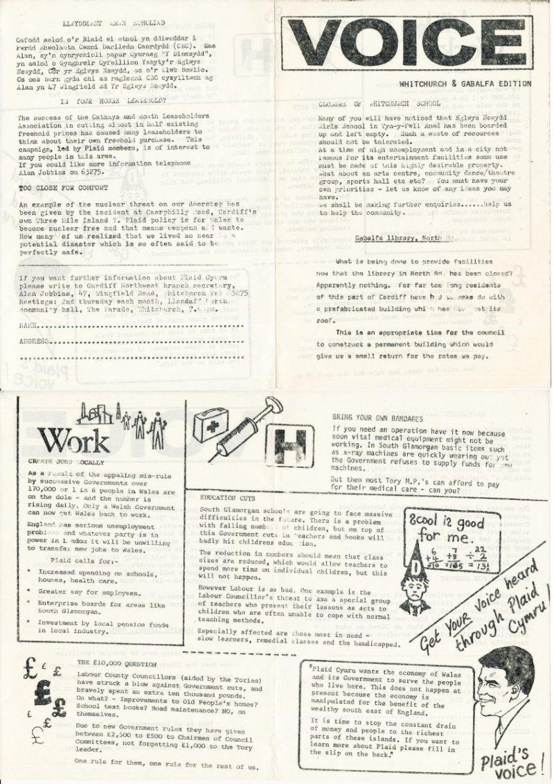 1984 Voice Whitchurch Caerdydd