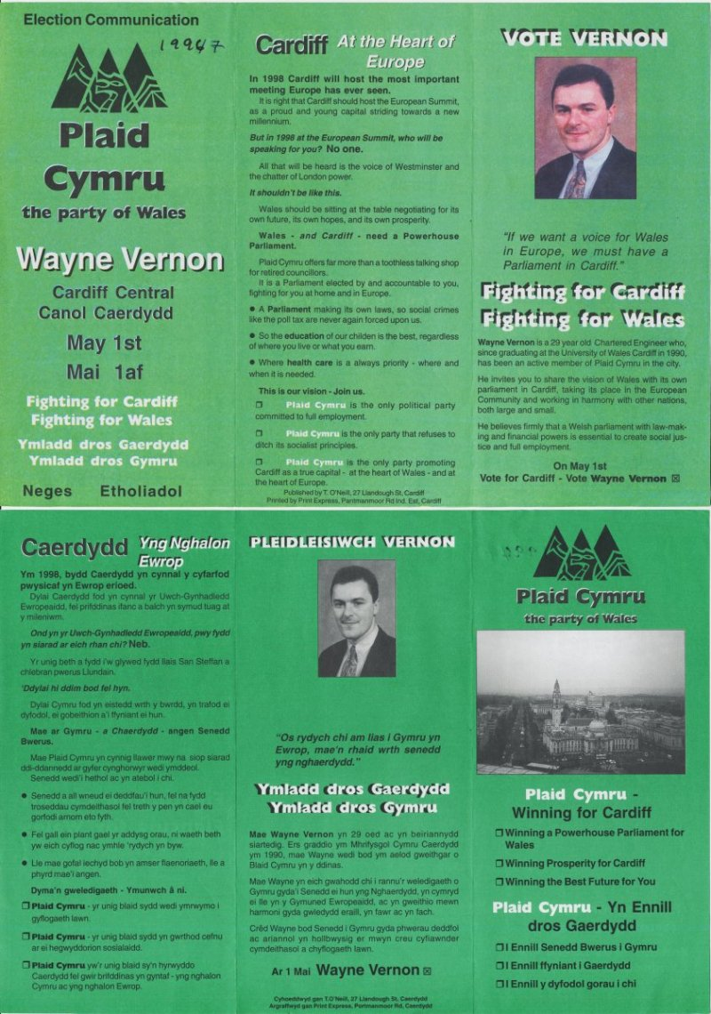 1997 Wayne Vernon Caerdydd
