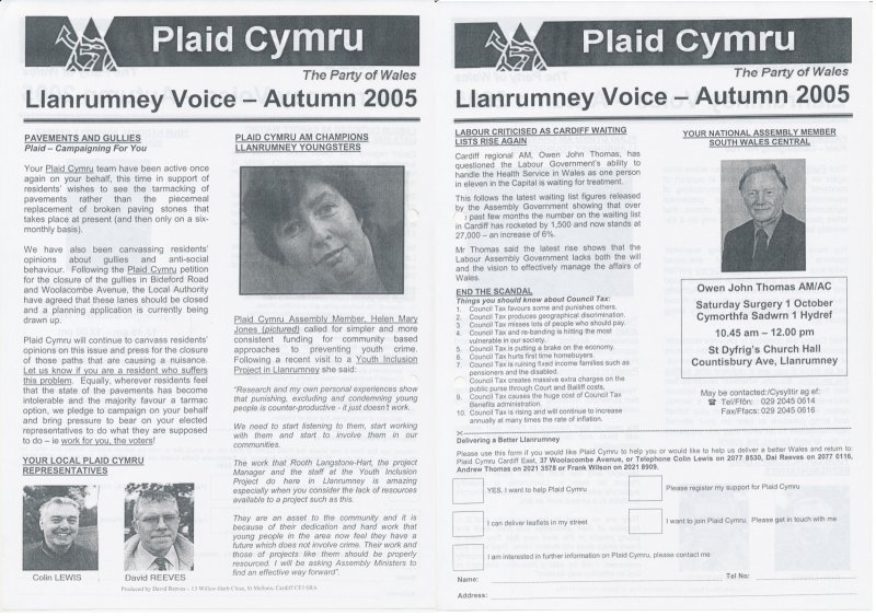 2005 Llanrumney Voice Plaid