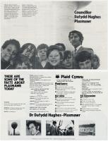 1972 Taflen Dafydd Huws