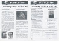 2005 Llanrumney Voice Plaid