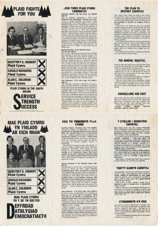 1974x Caerffili Cyngor Cwm Rhymni