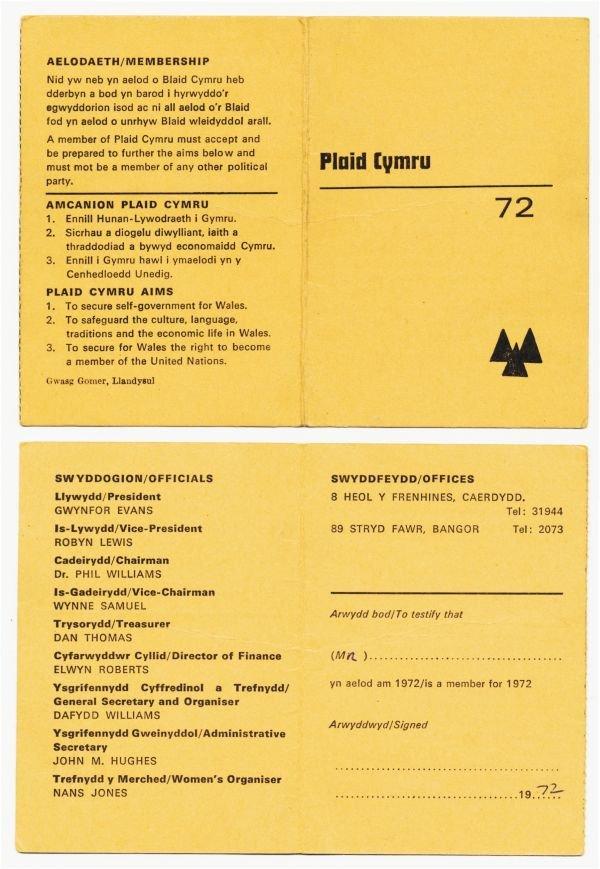 1972-cerdyn-aelodaeth