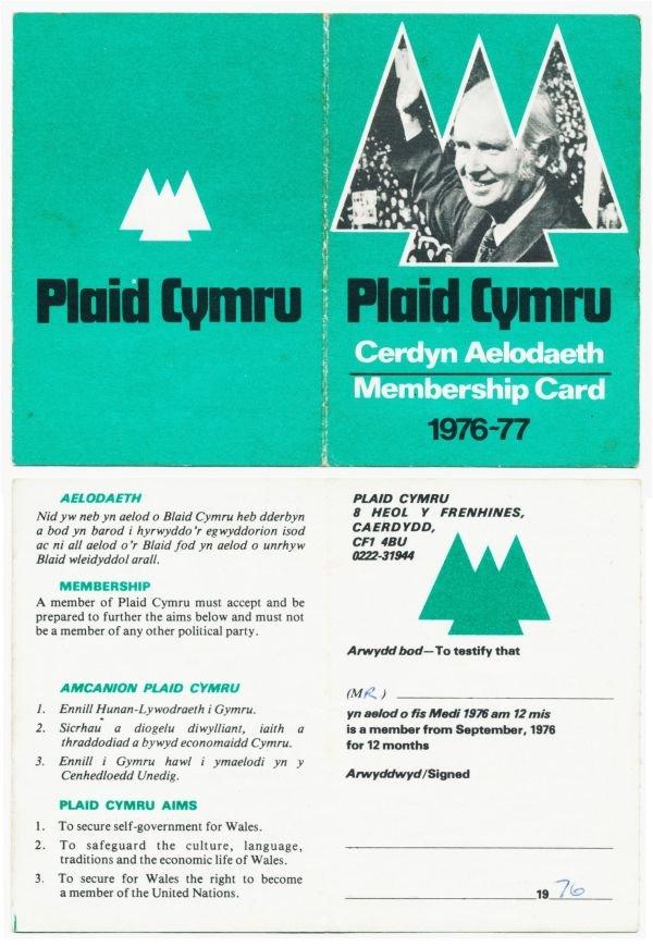 1976-cerdyn-aelodaeth