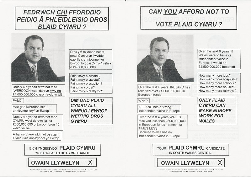 1999 Owain Llywelyn Ewrop-