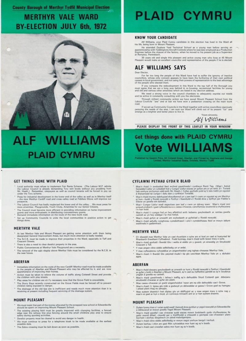 1972 Merthyr Alf Williams
