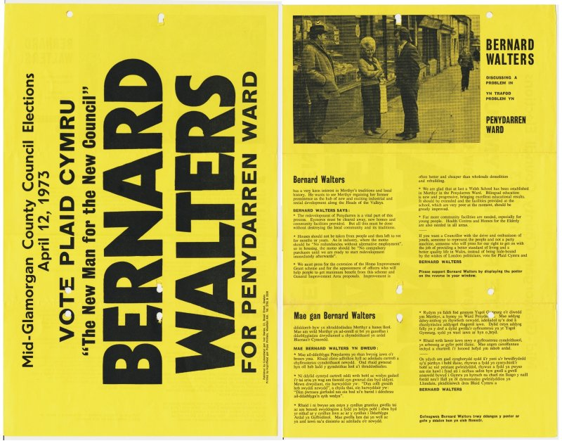 1973 Merthyr Bernard Walters