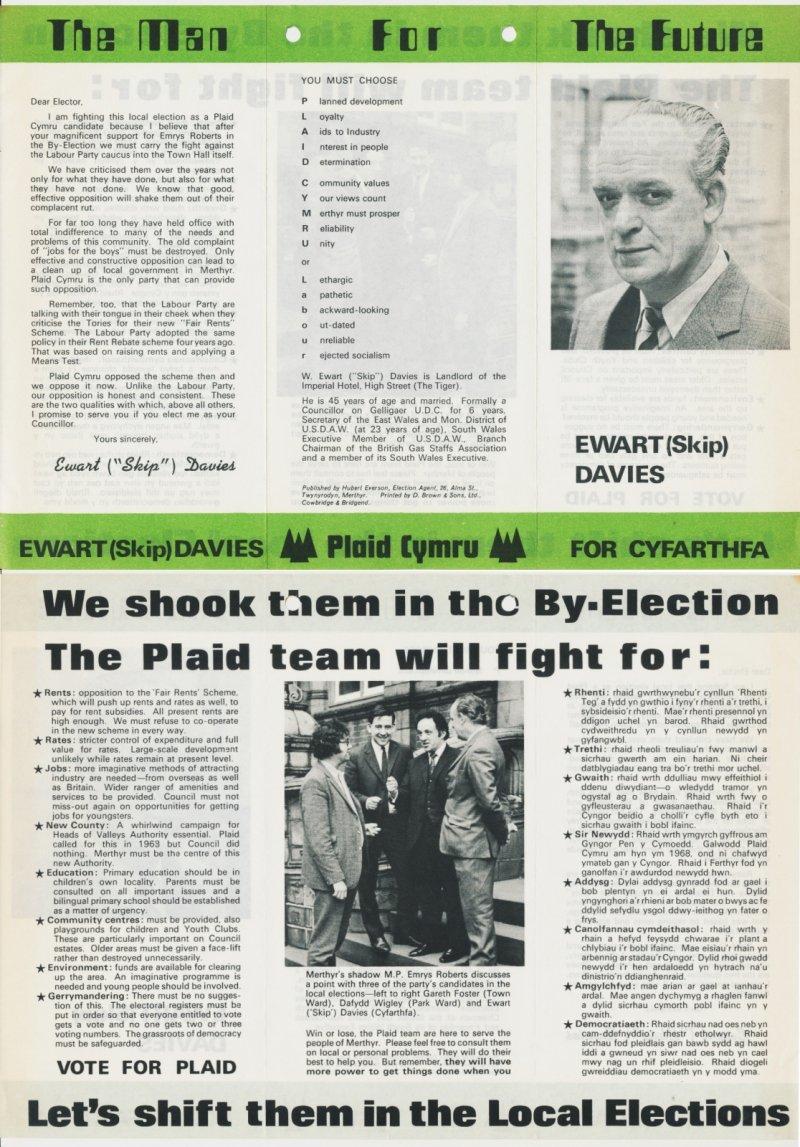 1973 Merthyr Ewart Davies