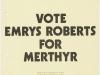 1970x Emrys for Merthyr