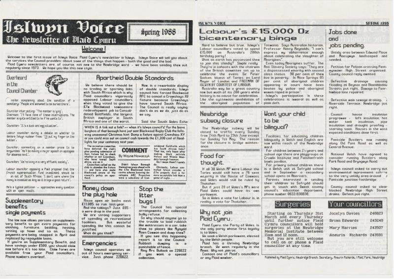 1988 Islwyn Voice