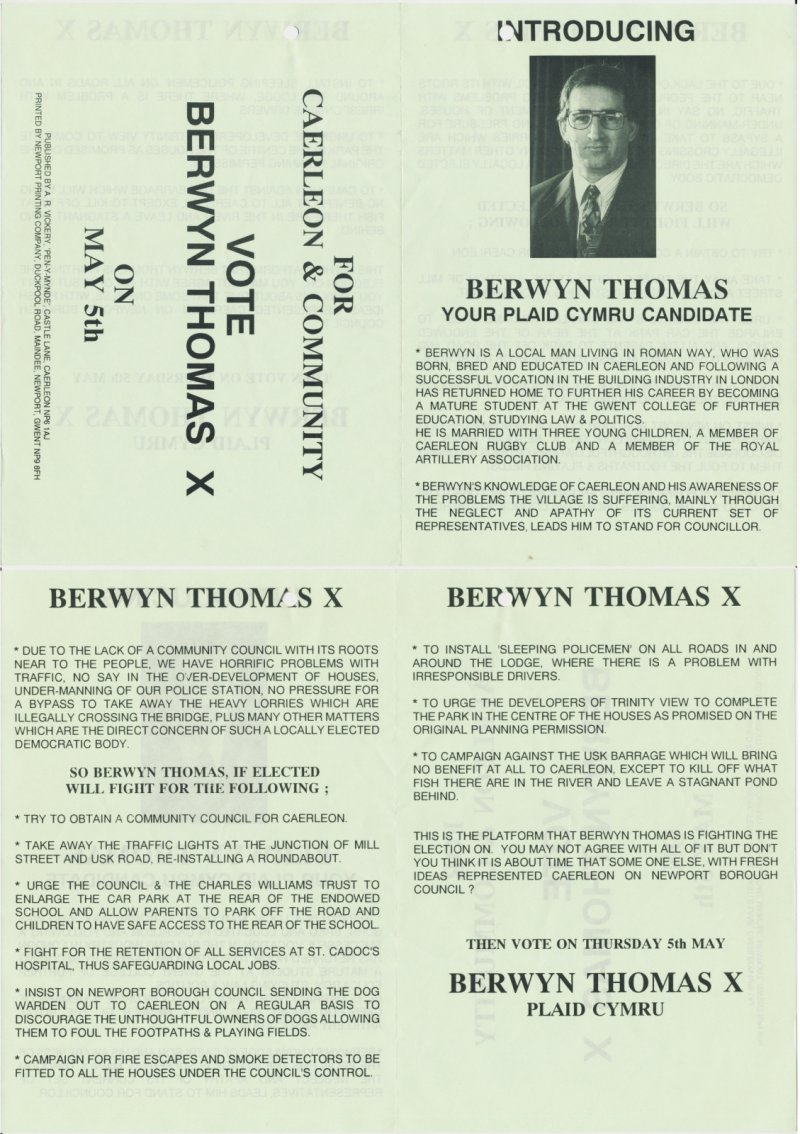 1994x Caerleon Berwyn Thomas