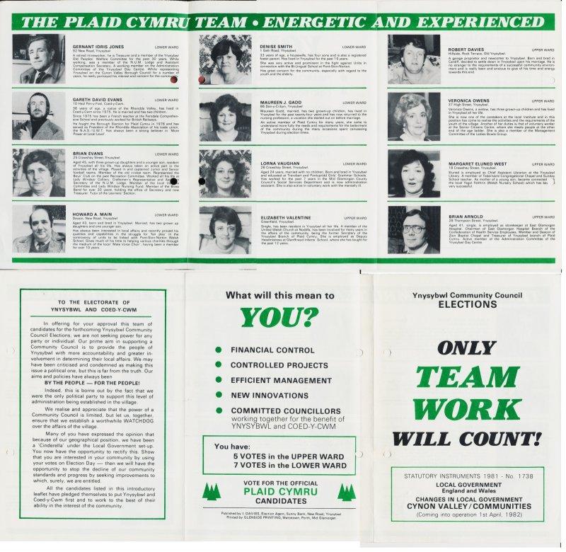 1982 Ynysybwl Community