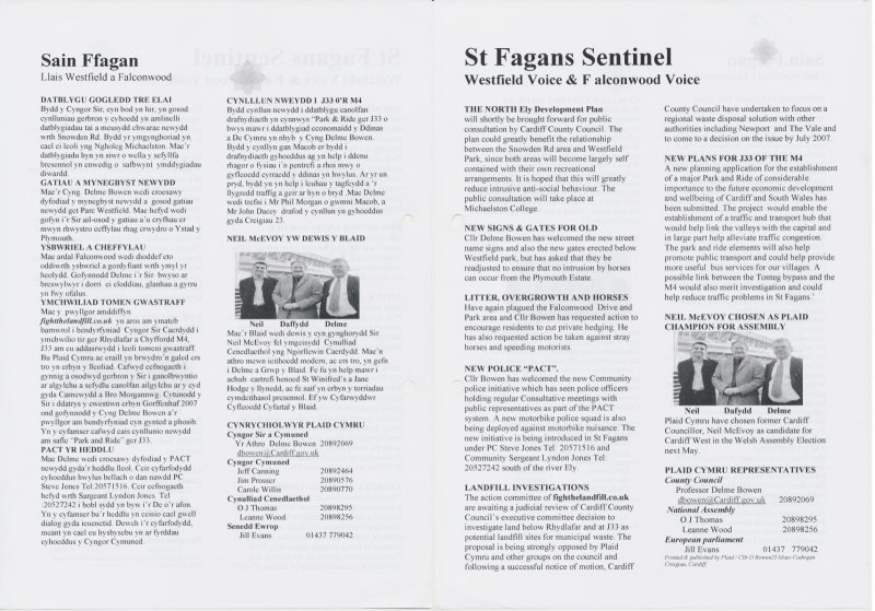 2006 Sain Ffagan Delme Bowen