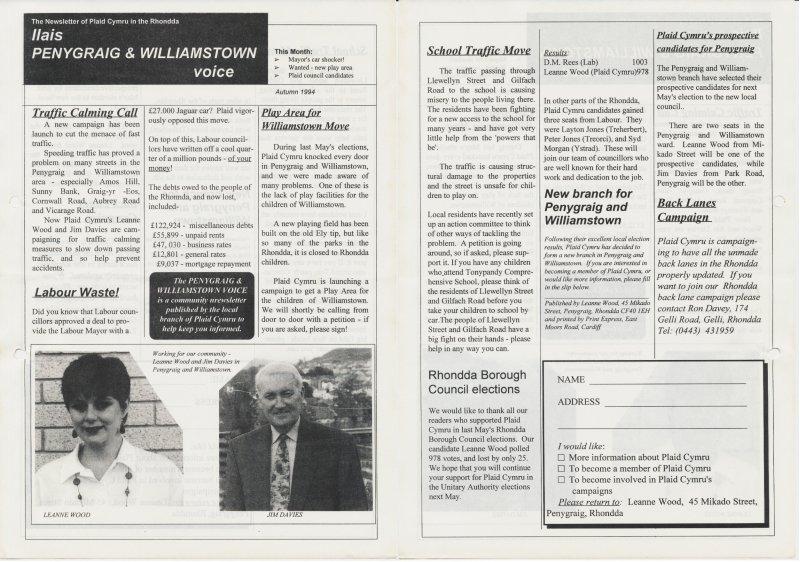 1994 Voice Rhonda Penygraig