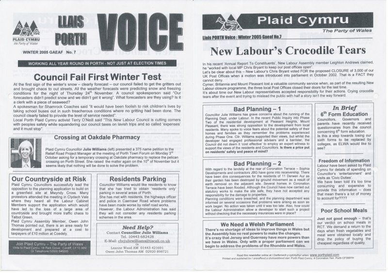 2005 Voice Porth Rhondda