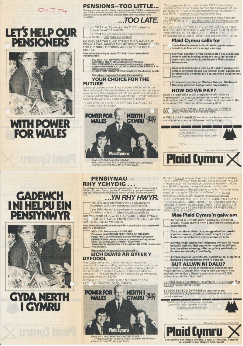 1974 Help pensioners