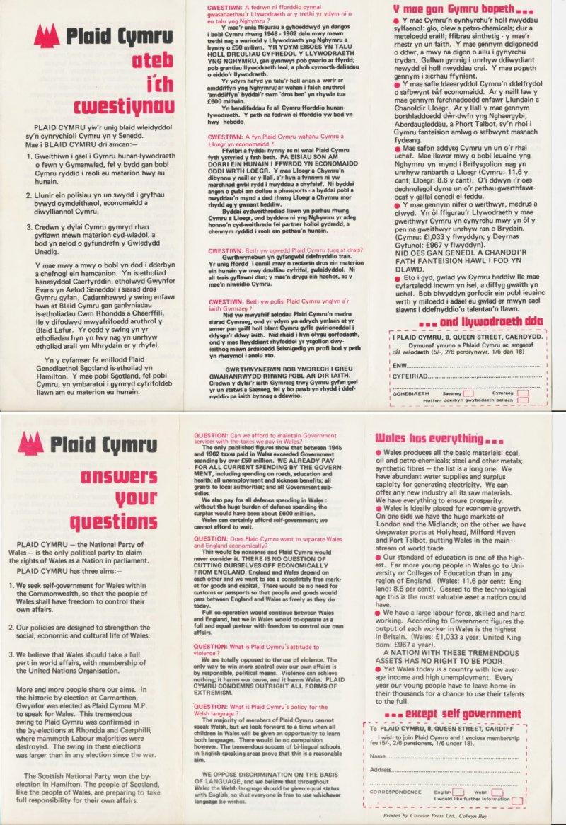 1974 Plaid Cymru Ateb