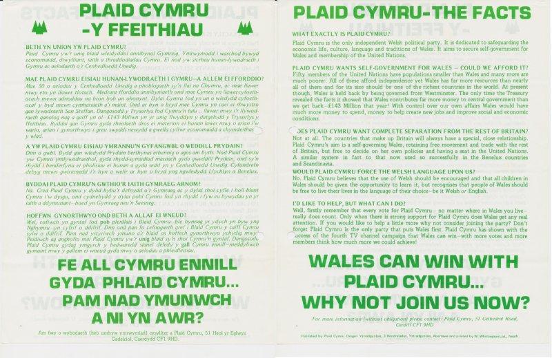 1981 Plaid Cymru Ffeithiau