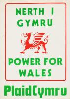 1980x Plaid Cymru Nerth i Gymru