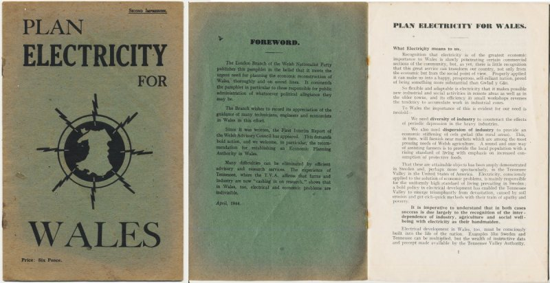1944 Plan Electricity fro Wales