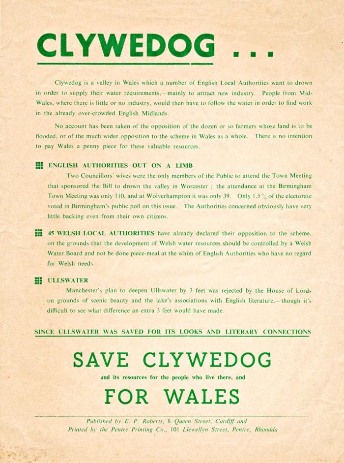 1960 Clywedog